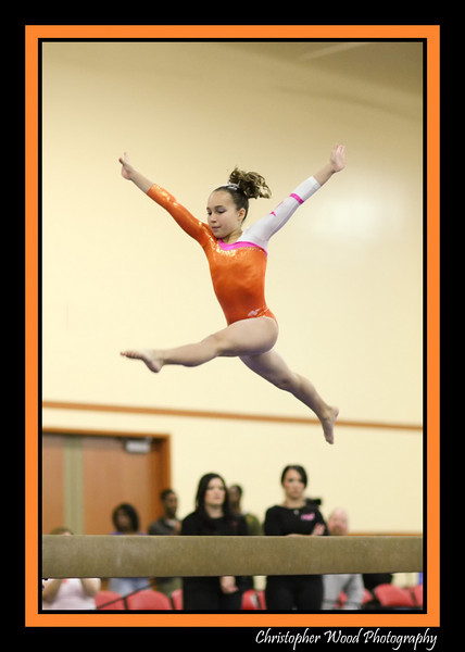 Gymnastics Beam Split Jump