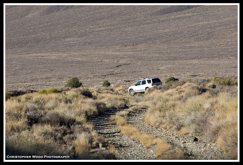 Jeep trail in Wildrose Canyon