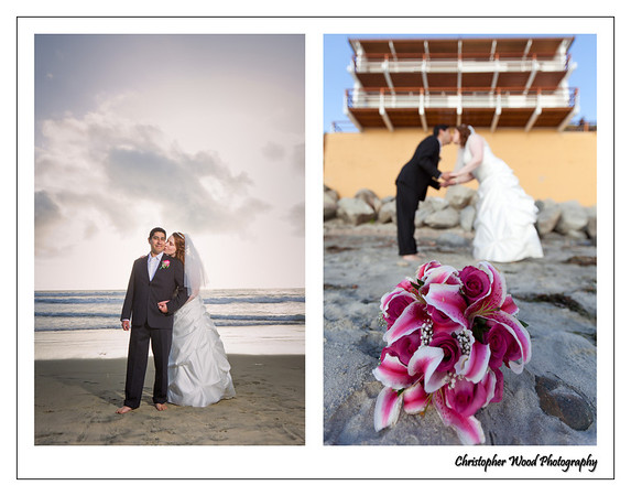 Moonlight Beach Wedding Portraits