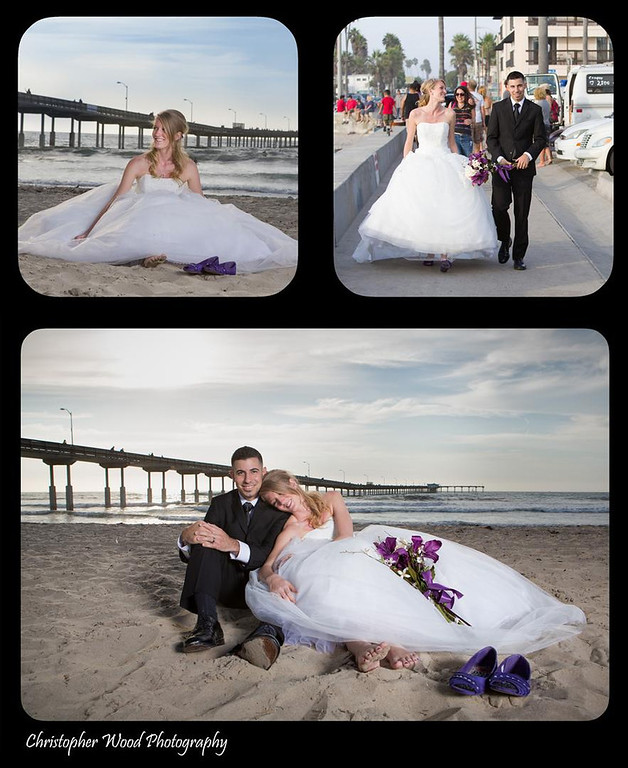 Ocean Beach Pier Bridal Photos