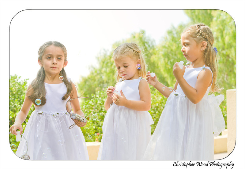 Flower Girls Wedding Bubbles