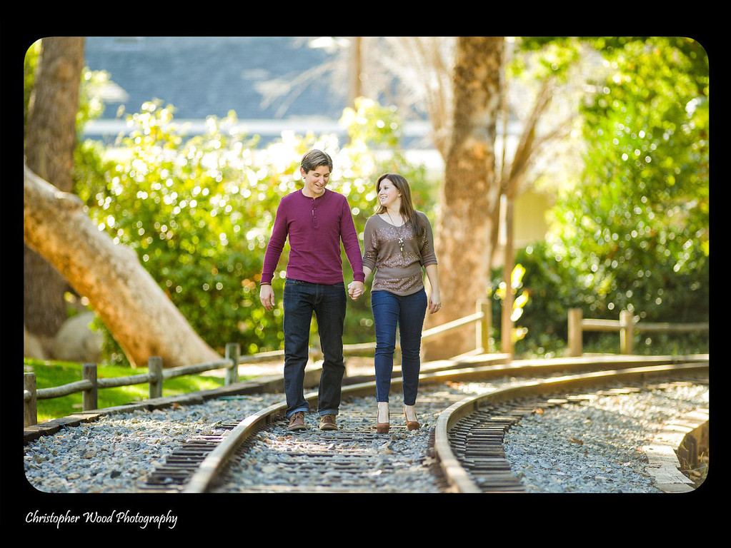 Train Tracks Engagement Photos