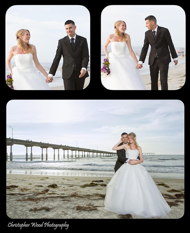 Ocean Beach Pier Wedding Portraits