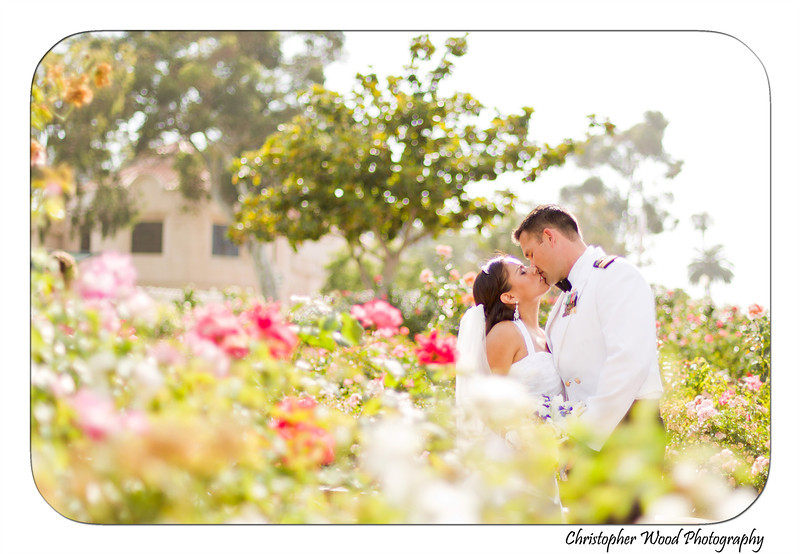 Balboa Park Rose Garden Wedding Portrait