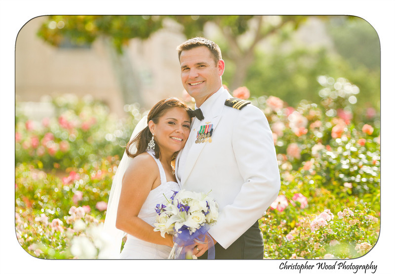 Rose Garden Wedding Photo