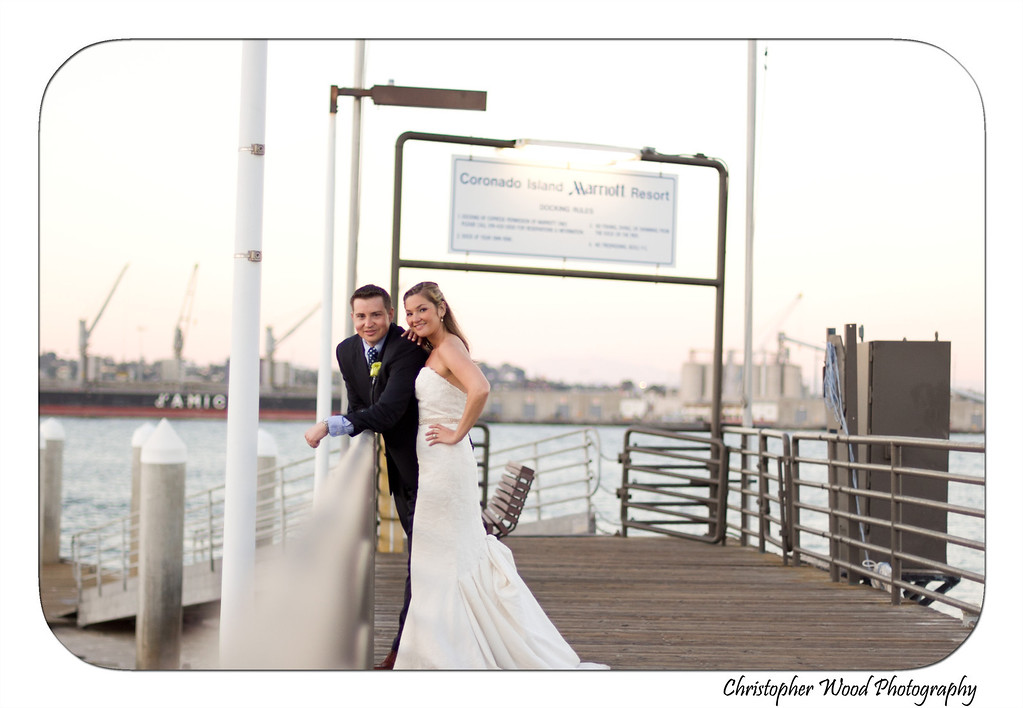 Wedding Portrait on Marriott Dock