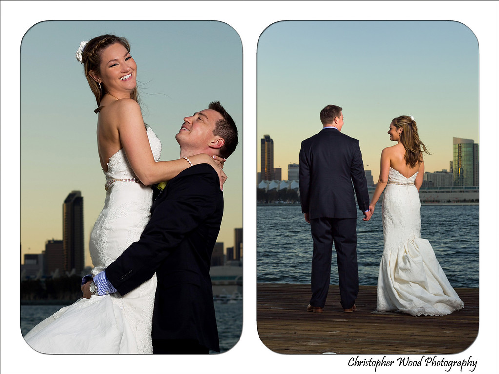 Wedding Portraits on Dock