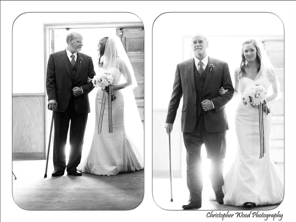 Bride father aisle wedding